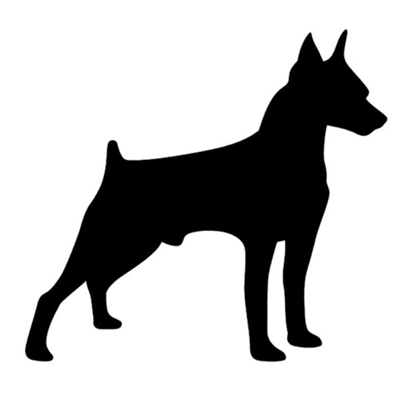 PROTECTED BY MINIATURE PINSCHER SECURITY AGENCY DOG STICKER
