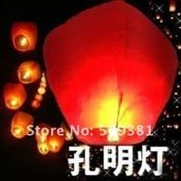10 шт./лот, бесплатная доставка, в форме сердца - в форме летающие далеко неба, большой размер Fun, белый и красный