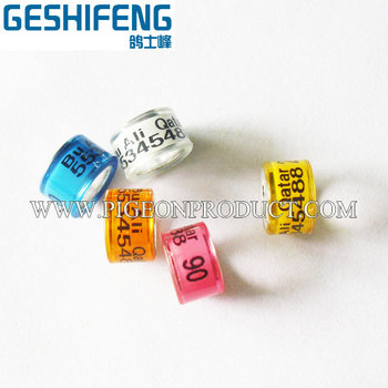 New design plastic and aluminium bird foot ring leg band with top quality and cheap price