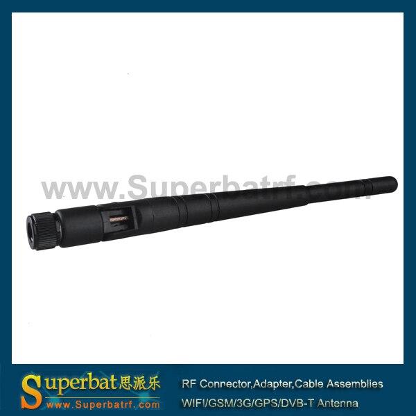 Superbat RP-SMA мужской 2,4 ГГц 5dBi наклона и поворота Omni Беспроводной WI-FI антенна бустер резиновая антенна для маршрутизатора D- linkR LinksysR