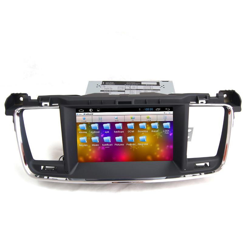 Android Car GPS DVD Support Built In Wifi 3G iPod Camera Input Bluetooth Steering Wheel Button Navigation For Peugeot 508