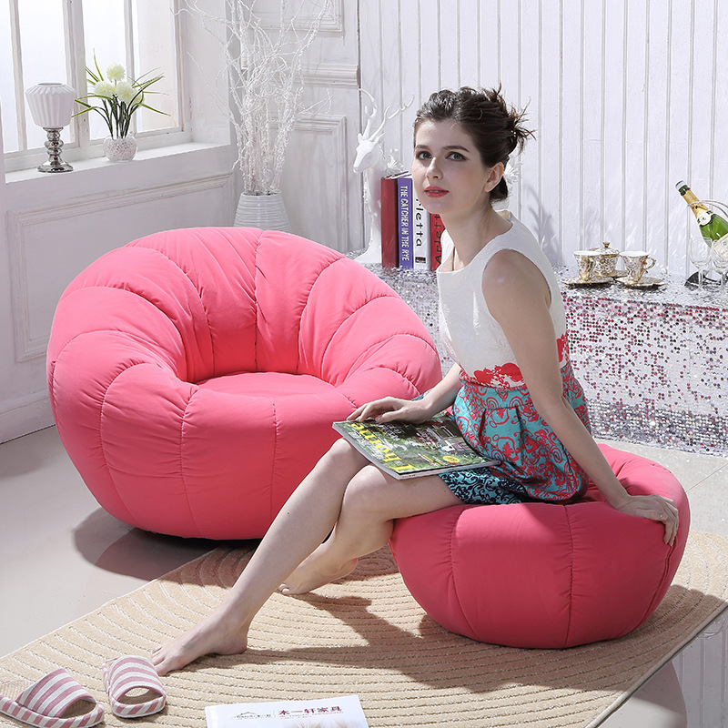 Solo Durable Lovely Pumpkin Shape One Site Couch With Pedal And Pillow Exquisite Children Sofa