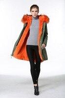 2016 Embroidery Pattern Beading vest Designer jacket exclusive fur coat furs fishtail faux orange fur jackets