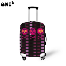 ONE2 Design Fashion travel luggage cover travel bag cover beautiful pictures for suitcase boys good quality custom luggage cover