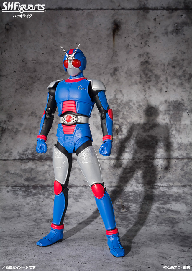 100% Original BANDAI Tamashii Nations S.H.Figuarts (SHF) Action Figure - BIORIDER from Masked Rider Black RX