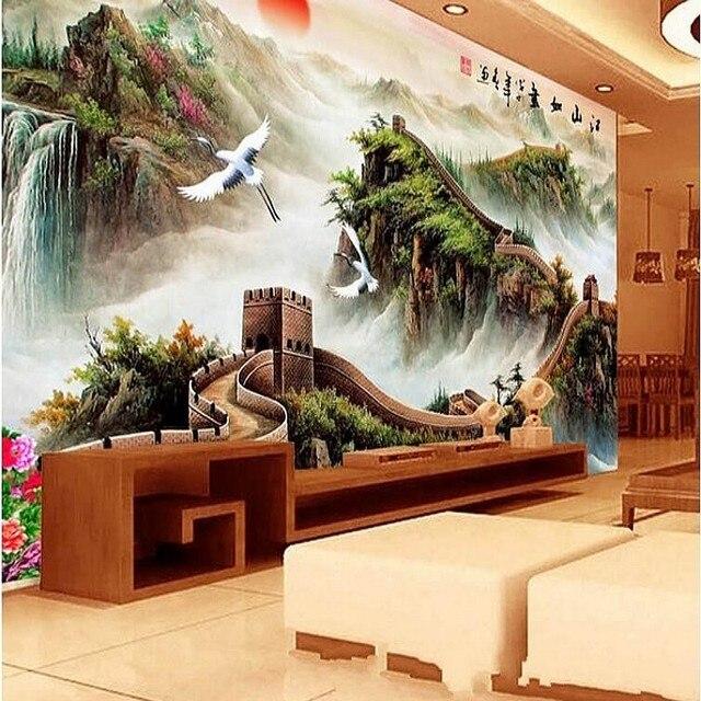 3d Chinois paysage peinture de la Grande Muraille V fond papier ...