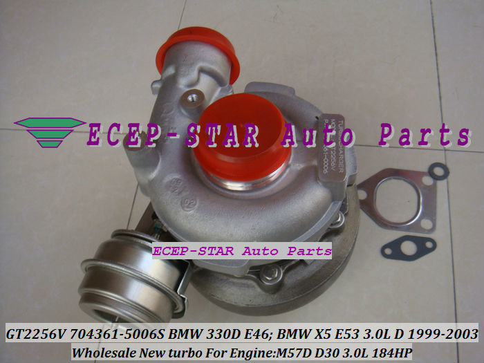 GT2256V 704361-5006S TURBINE Turbo Fit For bmw 330D E46 X5 3.0D E53,EngineM57D D30 3.0L 184HP 1999-2003 Turbocharger (7)