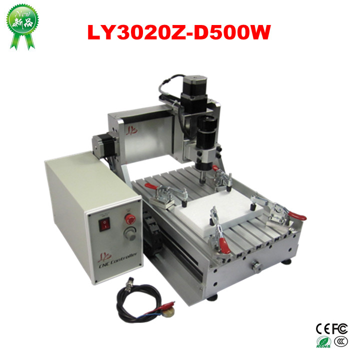 LY CNC3020Z-D500W 3axis mini cnc router wood lathe