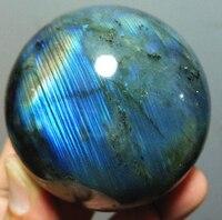 360g 60mm Madagascar NATURAL Labradorite QUARTZ CRYSTAL sphere ball