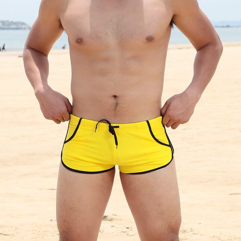 Herrenmarke Badeanzug Badehose Metrosexual sexy niedrige Taille Tasche Badebekleidung Schwimmen tragen Shorts Schwimmen Strand nadar plus Größe