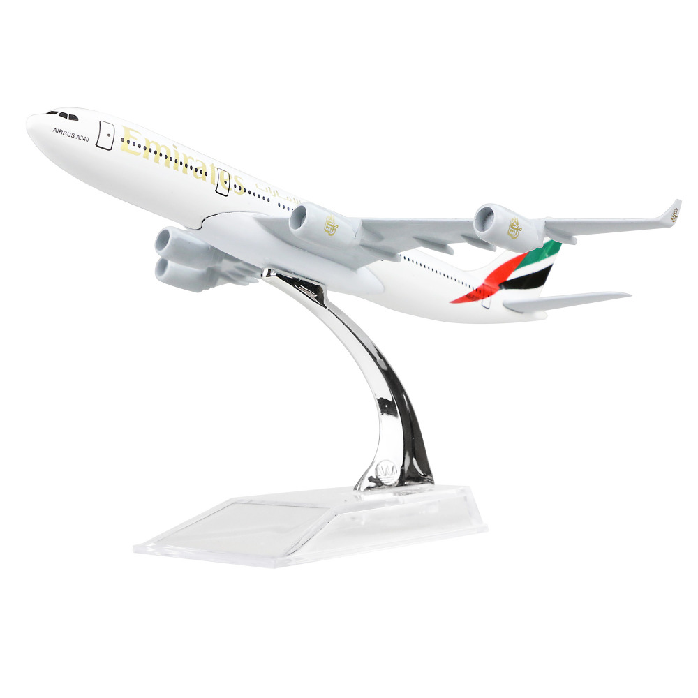 Emirates Airlines Airbus 340 16cm alloy metal model aircraft child Birthday gift plane m ...