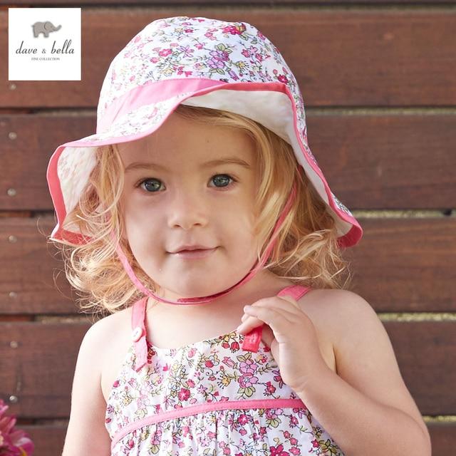 1317d8f13 DB3195 ديف بيلا الصيف طفل الفتيات القبعات الرضع قبعات الطفل قبعات سيدة دلو  قبعة الشمس قبعة