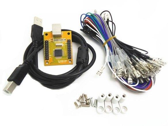 4.8 Conector para PC PS 3 2 em 1 USB motorista 2 jogador mame multicade jamma de arcade a Teclado USB codificador