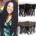 1B Brazilian virgin hair deep wave curly lace frontal Brazilian lace frontal closure 7a unprocessed virgin hair lace frontals