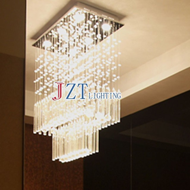 M Best Price Modern Staircase Eropean Art Crystal Chandeliers Lights Fixture Curtain Design For Dining Room