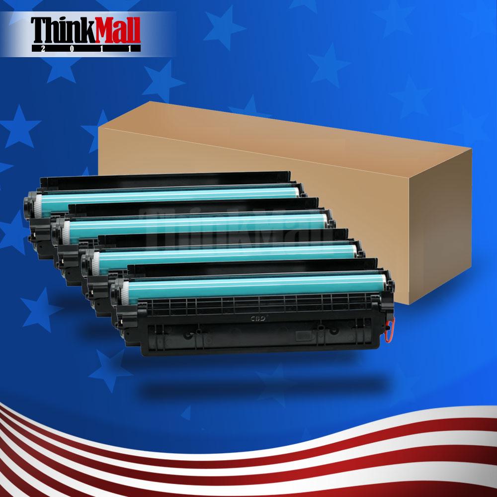 4 STÜCKE Tonerkartuschen für HQ CE285A HP LaserJet Pro P1102 P1107 P1108...