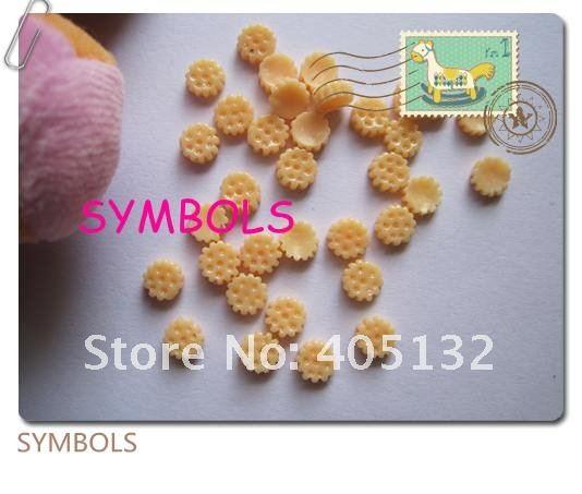 Rc-9-2 200 шт./пакет желтый Cookie Дизайн ногтей украшение мобильного телефона украшения