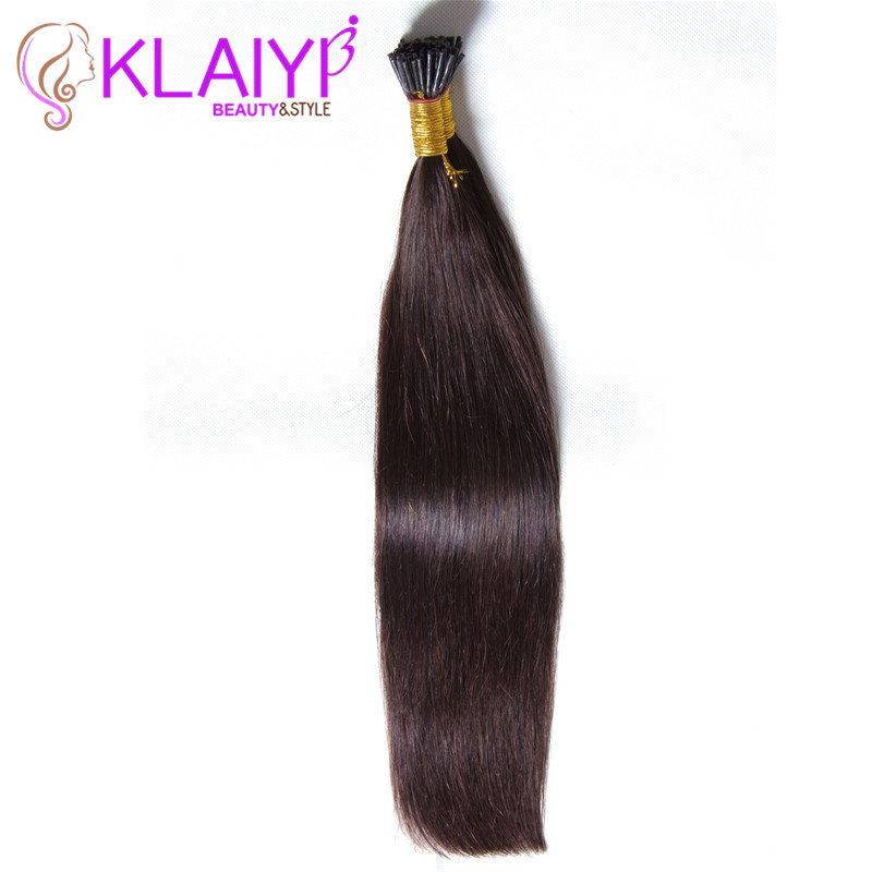 #1B Natural Black Kertain I Tip Human Hair Extension Alibaba Express Brazilian Hair I-Tip Hair 100g 18 20 22 24 Inch Big Sale