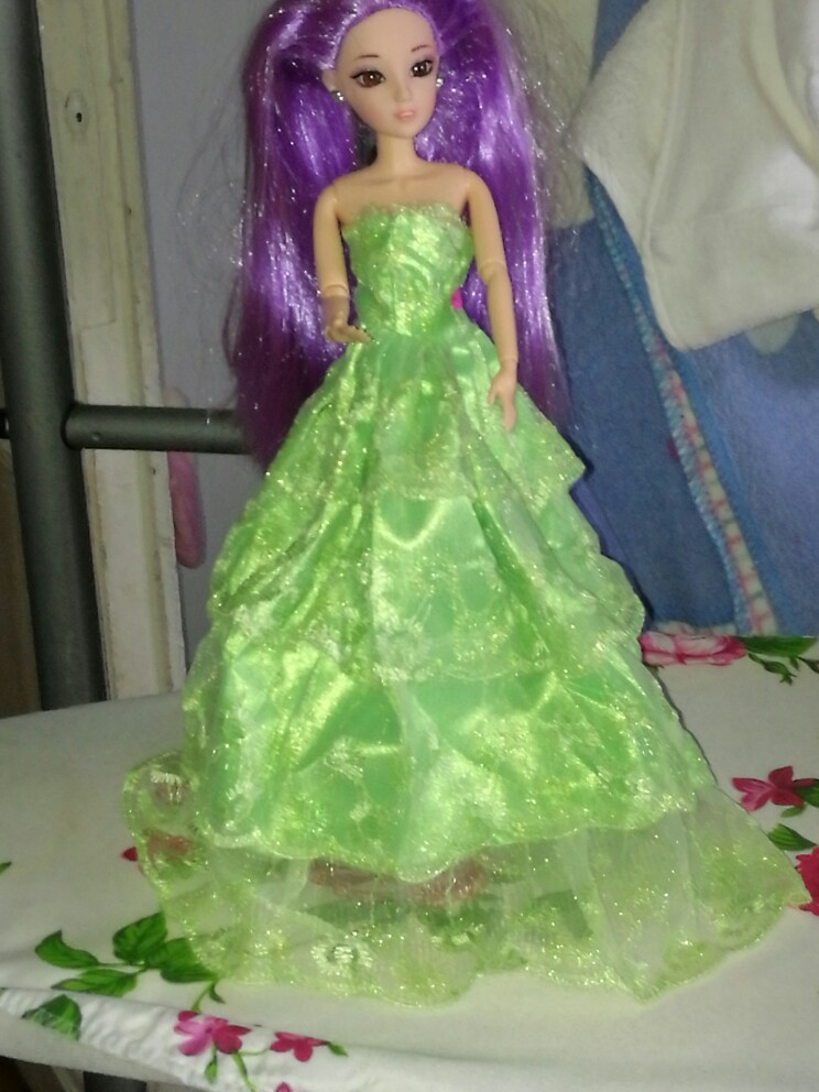 """1 X Embroidery Green Wedding Gown Dress For s Dolls 27cm//10.63/"""" TEES"""