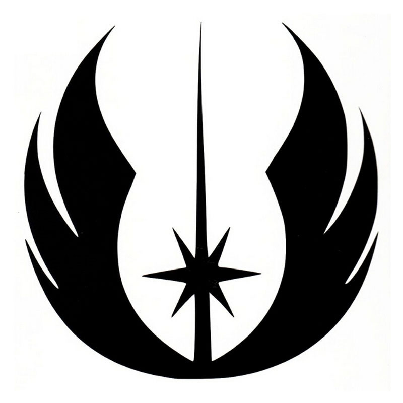 10 10cm star wars jedi order logo symbol car sticker classic personality car accessories decals. Black Bedroom Furniture Sets. Home Design Ideas