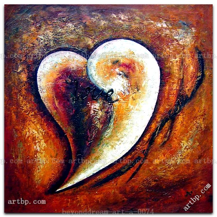 Heart Of Love I Oil Painting Abstract Modern Nonobjective Art Deco Famous Artists African Free Shipping Hand P In Calligraphy