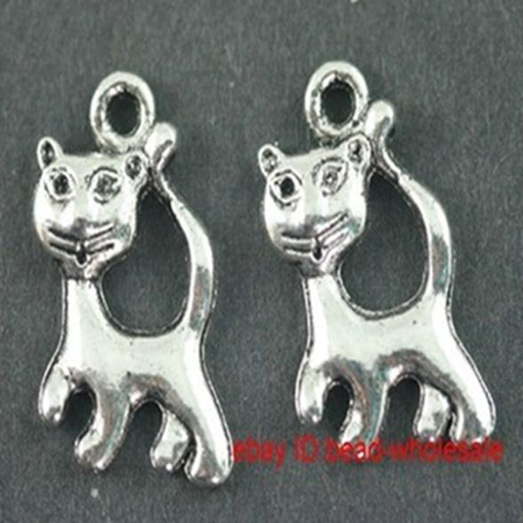 CAT HEAD Lot of 10 Pieces Tibetan Silver Tone 8mm Cat Head Alloy Spacer Beads