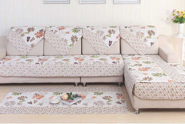hot sale polyester pastoral style sofa cover leaf pattern printed slipcovers for sectional sofa. Black Bedroom Furniture Sets. Home Design Ideas