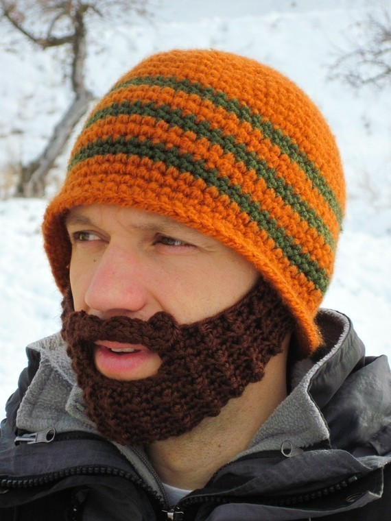 11c1e464778 New Handmade Knitted Crochet Beard Hat Bicycle Mask Ski Cap Roman ...