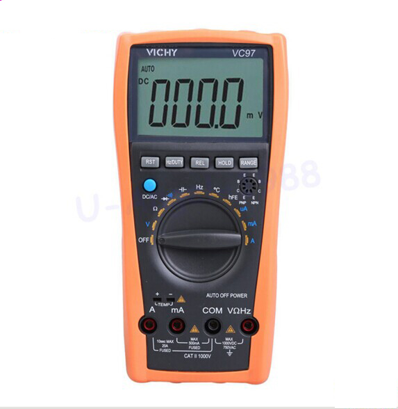 VC97+ auto range DMM AC DC Voltmeter Capacitance Resistance digital Multimeter VS FLUKE15B ms8226 handheld rs232 auto range lcd digital multimeter dmm capacitance frequency temperature tester meters