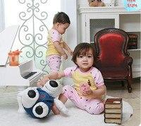 мужская костюм младенца : + плотно - ноги брюки / свободного покроя с короткими рукавами / 2 цветов : розовый и серый