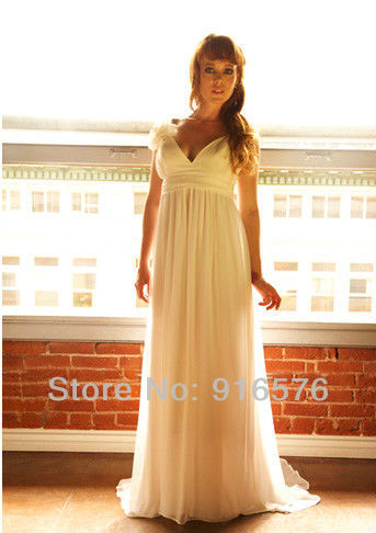 white goddess dress plus size wedding dresses with long ...