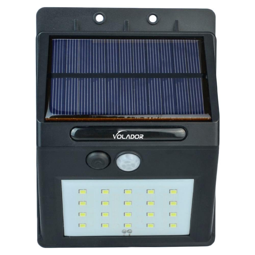 led con energa solar motion sensor de luz solar llev luces de inundacin al aire