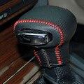 Caso para SKODA Octavia/Superb tampa da engrenagem automática tampa do botão de mudança de velocidades em couro Genuíno estilo Do Carro decoração de Interiores