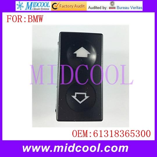 Otomobiller ve Motosikletler'ten Sensörler ve Anahtarlar'de Yeni Pencere Anahtarı OE NO kullanın. 61318365300 BMW 3er E36