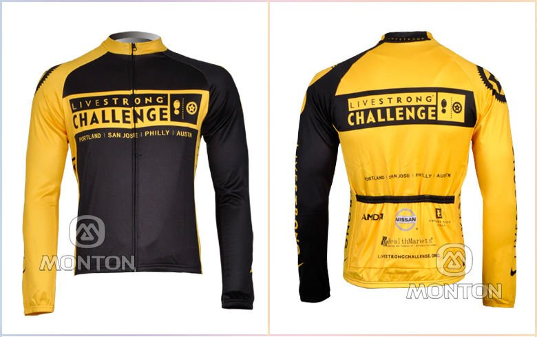 dea45160c EMS Free shipment Livestrong Challenge Thermal Fleece Cycling Wear Long  Sleeve Cycling Clothing-in Cycling Jerseys from Sports   Entertainment on  ...