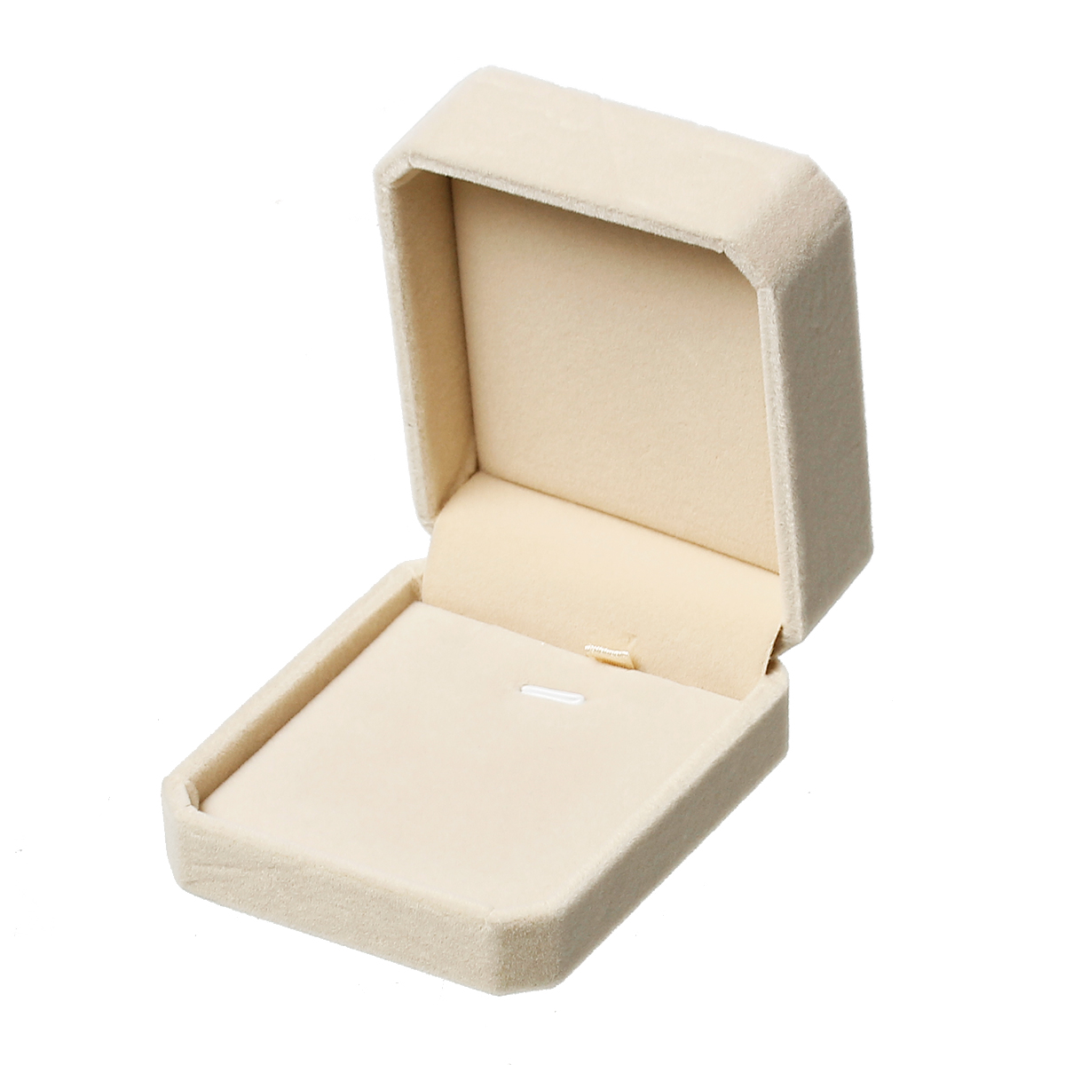 Doreen Box Plastic Velvet Jewelry Necklace Gift Boxes Rectangle