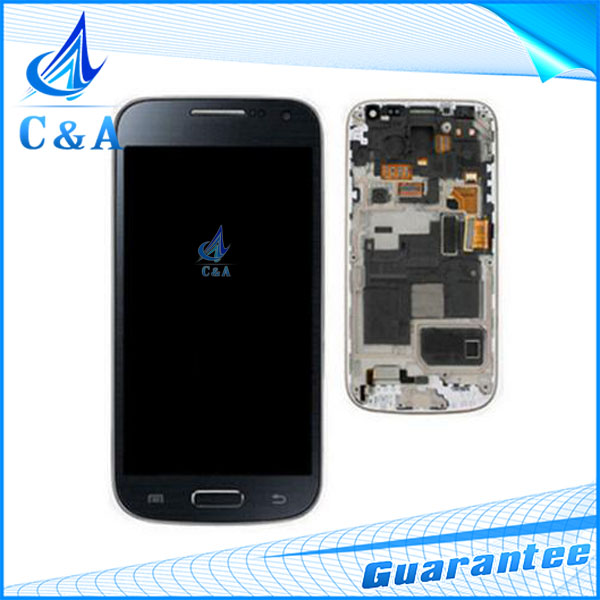 1 piece free shipping black white new replacement parts for samsung galaxy s4 mini i9190 lcd display with touch screen+frame