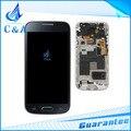 1 unidades el envío libre negro blanco nuevo piezas de repuesto para samsung galaxy s4 mini i9190 pantalla lcd con pantalla táctil + frame