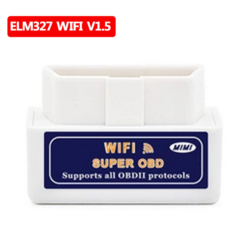High quality ELM 327 WIFI V1.5 OBDII/OBD2 Auto Scanner Tool Support Android & IOS System ELM327 Wifi Support OBD II Protocols
