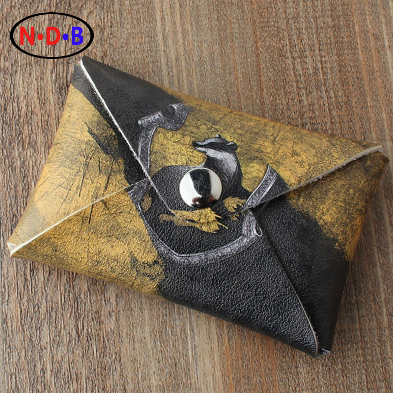 (Coin Purses) coin purse Potter Harry Hufflepuff pattern wallet Men and women coin bag LQB1082