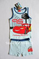 оптовая продажа мальчиков автомобили шорты пижама 2 шт. рукавов рубашка шорты лето пижамы костюм дети мультфильм комплект одежды