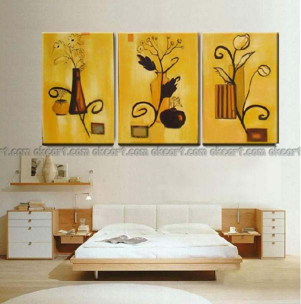 paintings for bedroom. aeProduct getSubject  100 hand painted free shipping Home bedroom of several flower pot