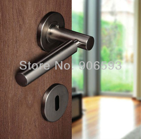 6pairs lot free shipping modern stainless steel door handles with