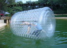 clear color inflatable roller ball on water water ball / Transparent infaltable water roll for kids and adults water game