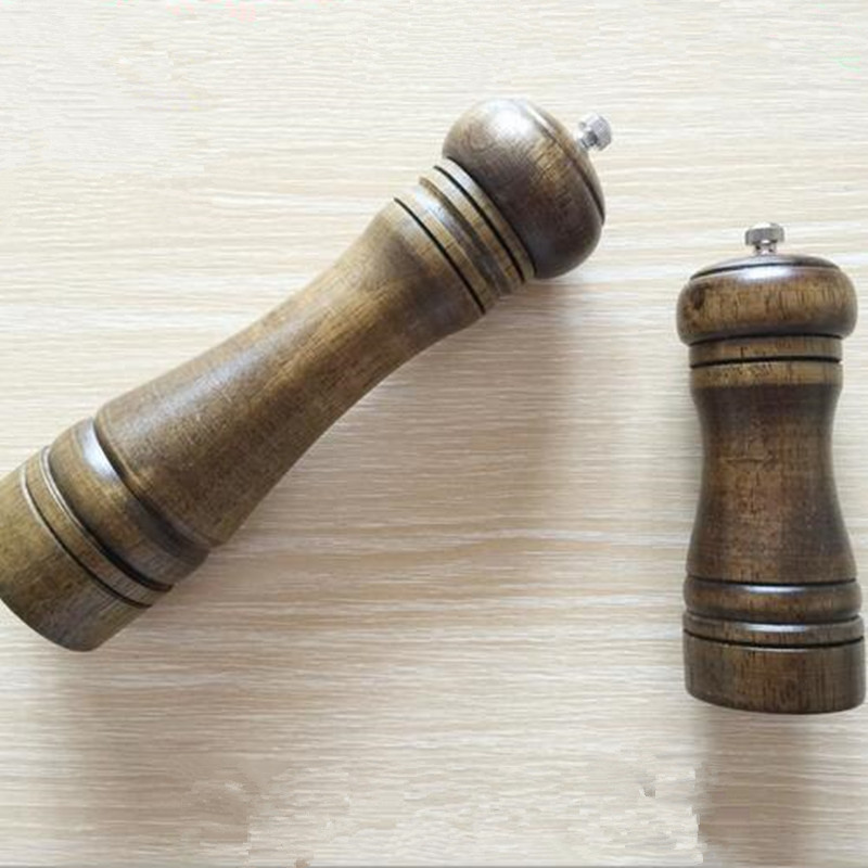 1Pc Highest Quality Kitchen Wooden Pepper Mill Spice Shaker Grinder Tableware kitchen tool