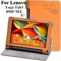 Guia Yoga 3 8 polegada Flor imprimir case Para Lenovo Yoga YT3 850 YT3-850F YT3-850M YT3-850L Tab3 Tablet Caso PU LEATHER Flip cobrir