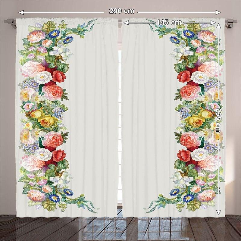 Thermique Rideaux Salon Chambre Rose Pastel Tons Jasmin Bleuet ...