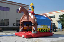 2016 factory customized inflatable bouncer house ,inflatable jumping bouncy castle ,horse inflatable jumping house for kids
