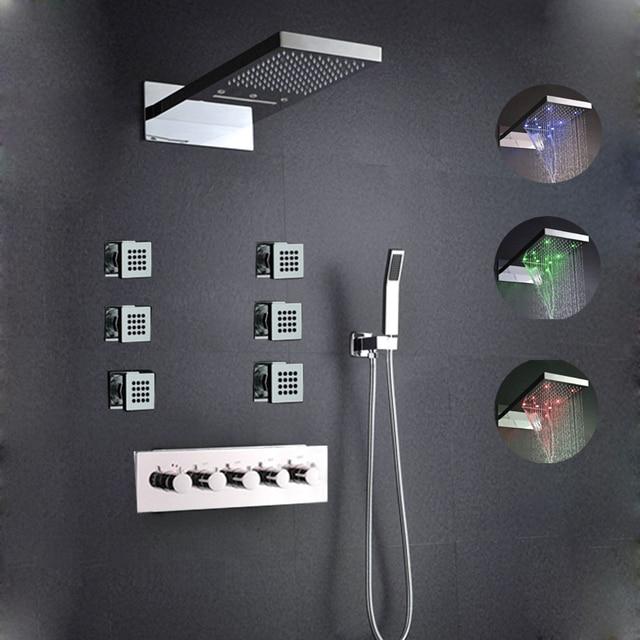 High quality bathroom shower set ,with body spray wall mounted ...