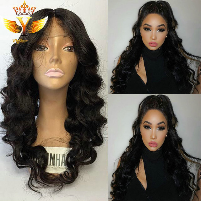 7A Middle Free Part Lace Front Wigs Human Remy Hair Natural Color Full Lace  Wigs 130 Density Full Front Lace Wig For Black Women 416153cfee